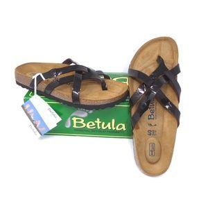 Betula Birkenstock Vinja Embossed Patent Sandal